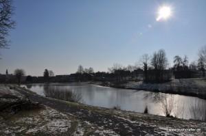 Zugefrorener Elsenzer See