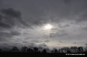 Am Vormittag war der Himmel noch schwer von Wolken verhangen.